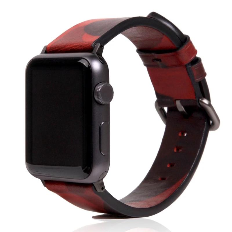 韓國SLG DESIGN CAMO APPLE WATCH 迷彩真皮錶帶 (Apple Watch 1to4 42/44mm)現貨