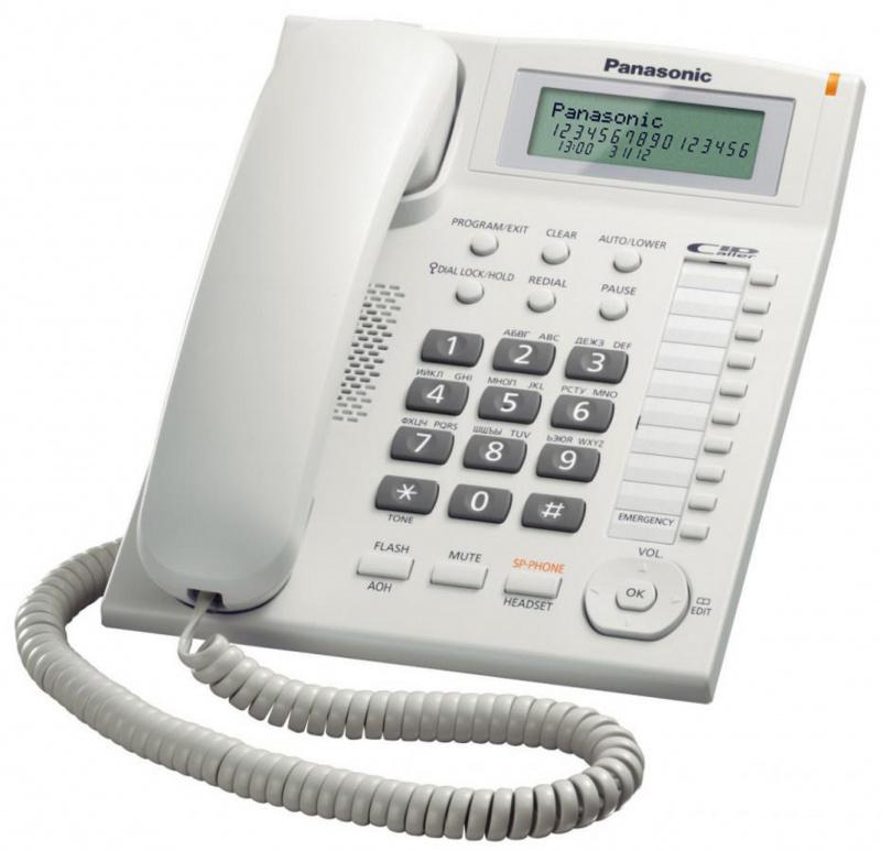 Panasonic - KX-TS880MX 來電顯示 室內有線電話 黑白兩色可選 Single Line Corded Telephone