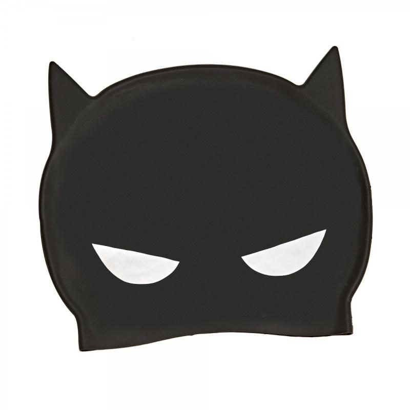 Zoggs 蝙蝠俠3D矽膠泳帽-黑/黃