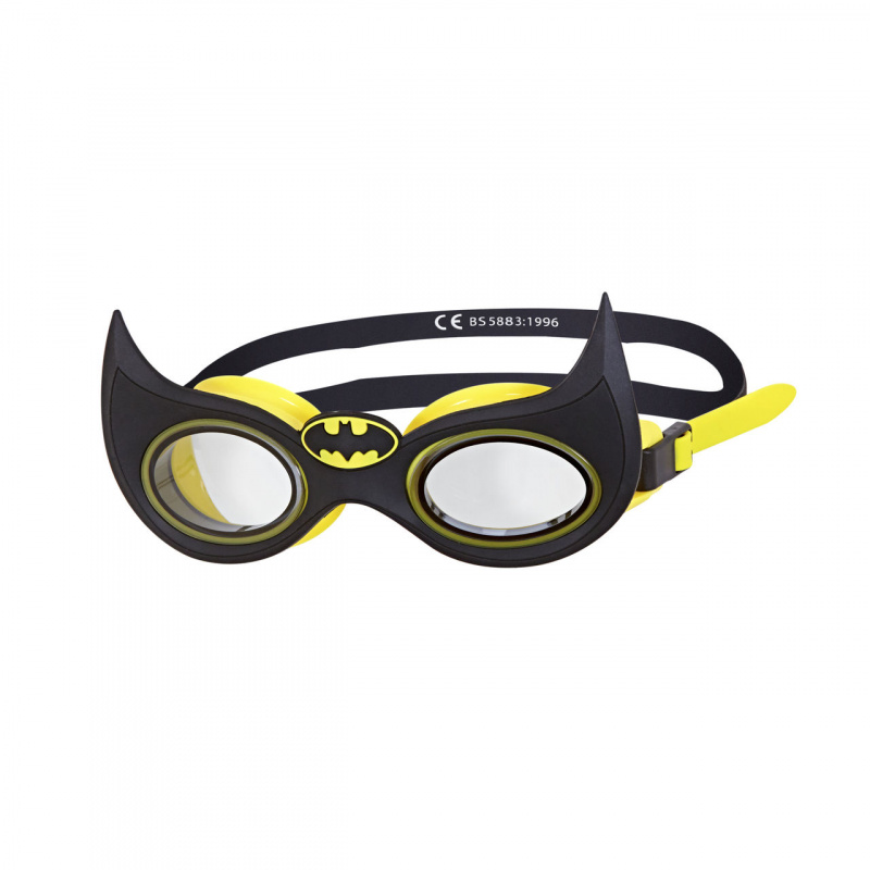 Zoggs 蝙蝠俠角色造型泳鏡-黑/黃