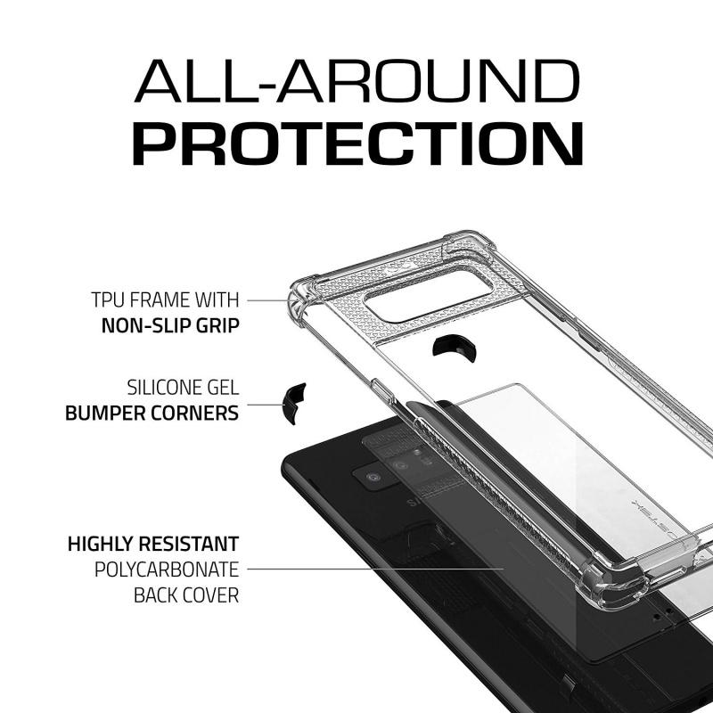 【多色選擇】Ghostek Galaxy Note 8 Clear Protective Case   Covert 2 Series