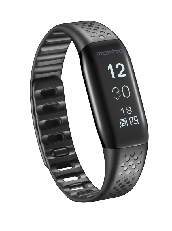 樂心手環 MAMBO 黑色 防水智能運動手錶 不需充電線 橫豎屏和左右手設置 波點腕帶 型格時尚 LS421-B