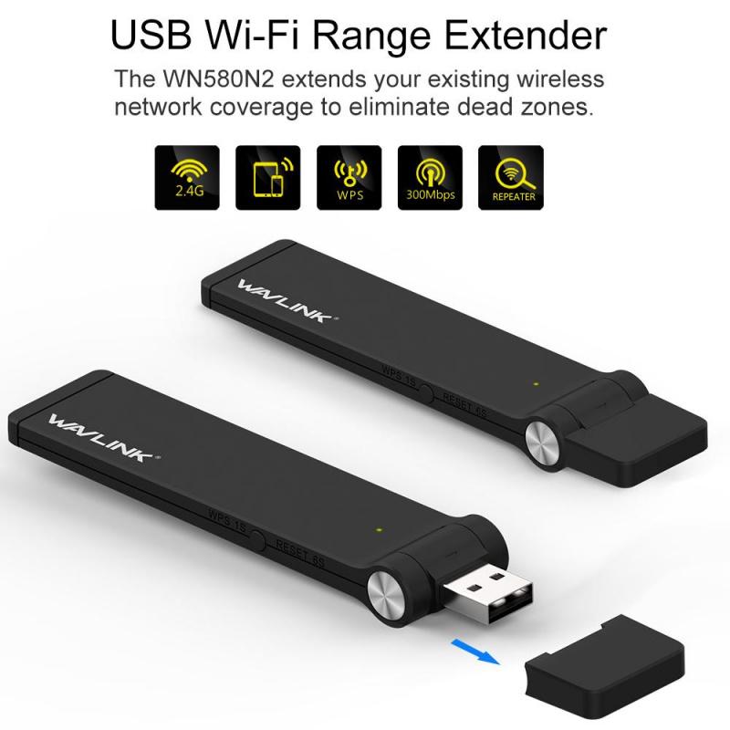 Wavlink N300 USB Wi-Fi放大器[WL-WN580N2]