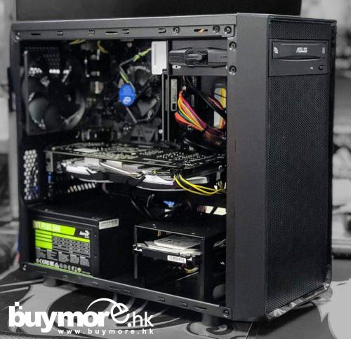 未來科技 Intel Core i5-9400F / ASUS PRIME H310M-E / ADATA Premier 8GB / Kingston A1000 240G NVMe SSD / MSI GeForce GTX1060 / FRACTAL DESIGN FOCUS I MINI
