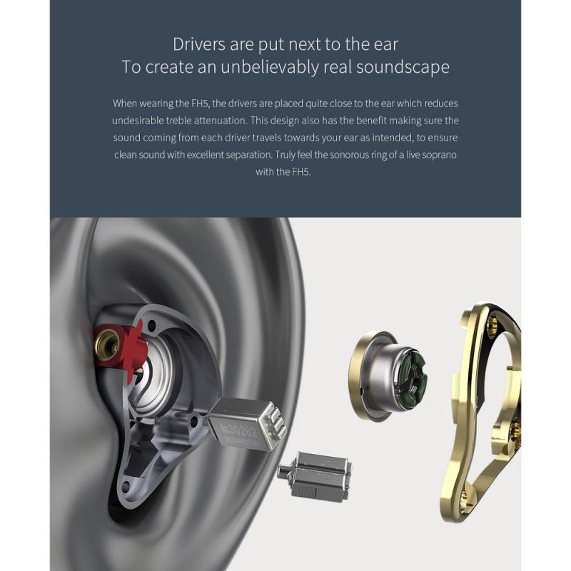 FiiO FH5 一圈三鐵四單元圈鐵樓氏耳機