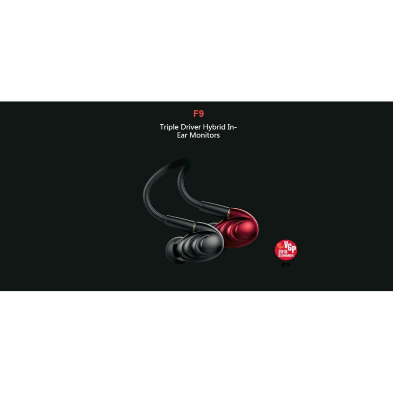 FiiO F9 3單元MMCX可換線混合圈鐵耳機