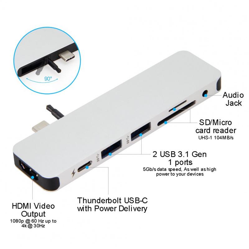 HyperDrive - 7-in-1 USB C Hub 集線器 [2色]