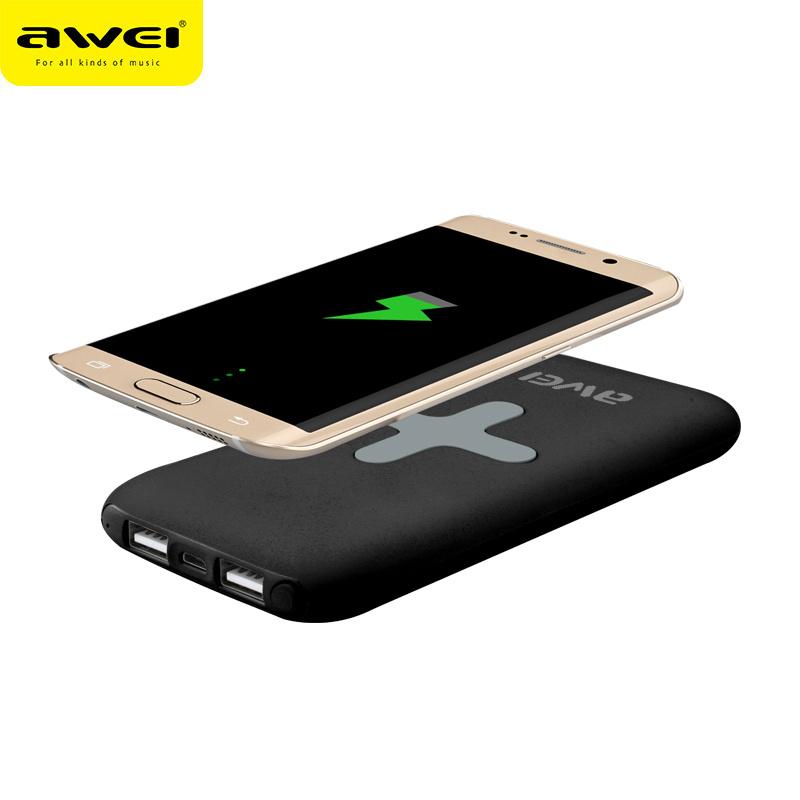 Awei P98K 7000mAh QI 無線外置充電器 [黑色]