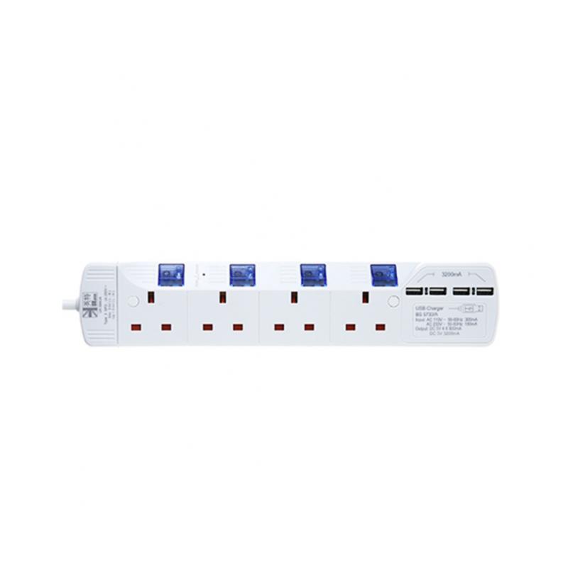 英特 UKase四插位連四USB拖板 (SU884U4) [2色]