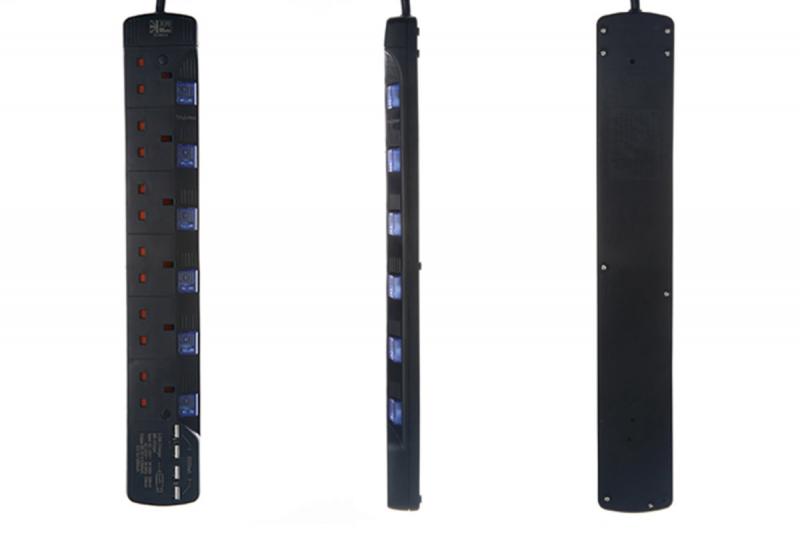 英特 SU886U4 6插位防雷連4 USB 輸出充電拖板