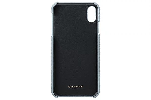 【4色】German Shurunken-calf Genuine Leather Shell Case for iPhone XS Max