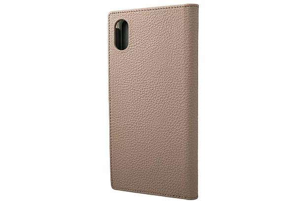 【4色】German Shurunken-calf Genuine Leather Book Case for iPhone XS Max