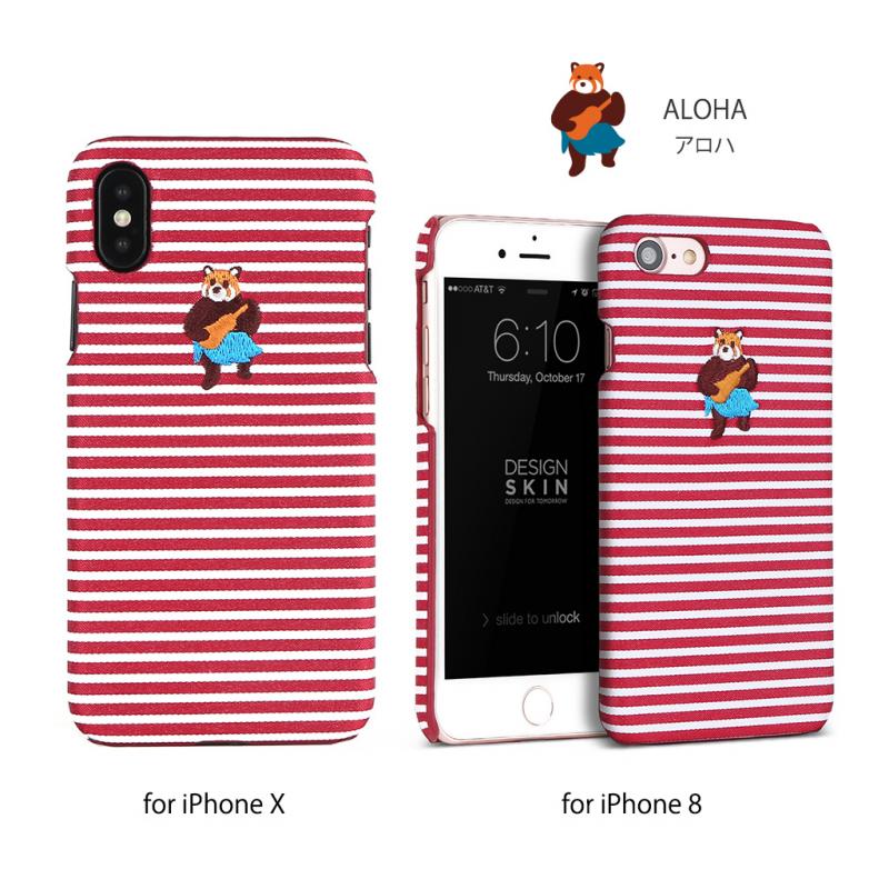【3色】Design skins wetherby bartype case for iPhone X