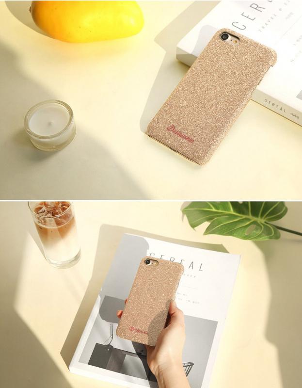 Design skins glitter bartype case for iPhone X