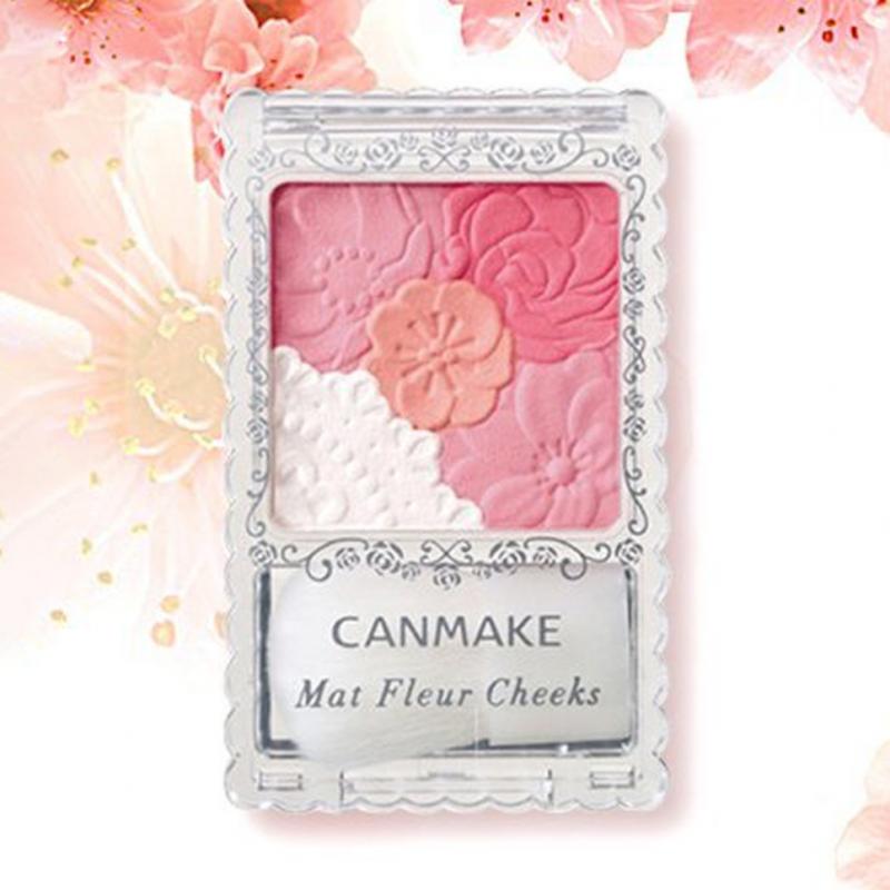 Canmake - 花漾柔啞胭脂 (啞光01#杏桃粉紅/啞光02#玫瑰粉紅)