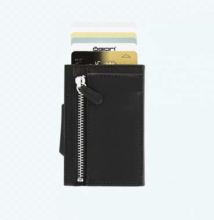法國OGON CASCADE ZIPPER WALLET防RFID卡夾皮革錢包 現貨