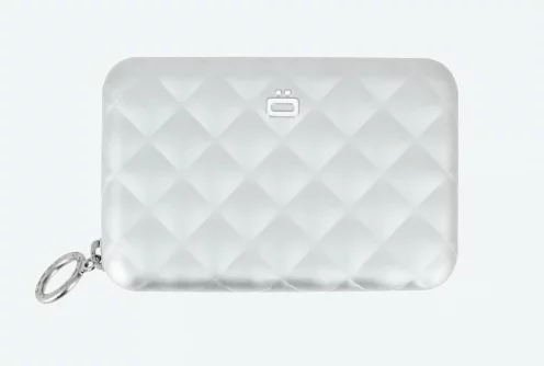 【多色】法國OGON Quilted Zipper RFID安全防盜菱格紋拉鍊卡匣