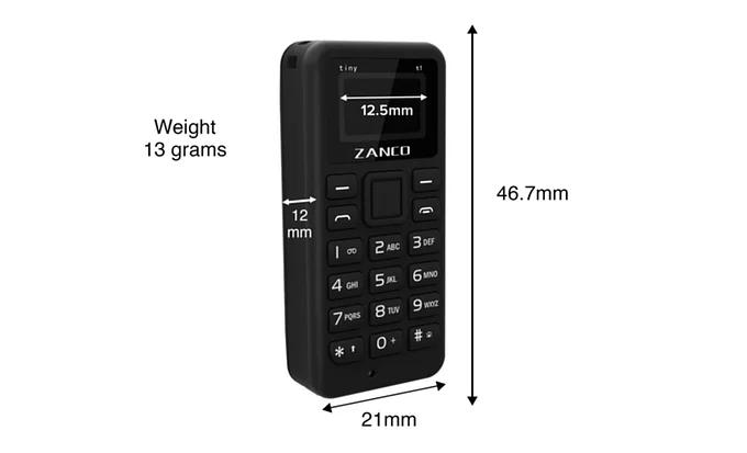 Zanco tiny T1 全球最細手機 現貨