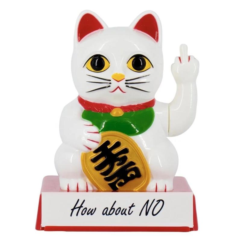 英國 Locomocean Cattitude Lucky Cat 中指幸運招財貓
