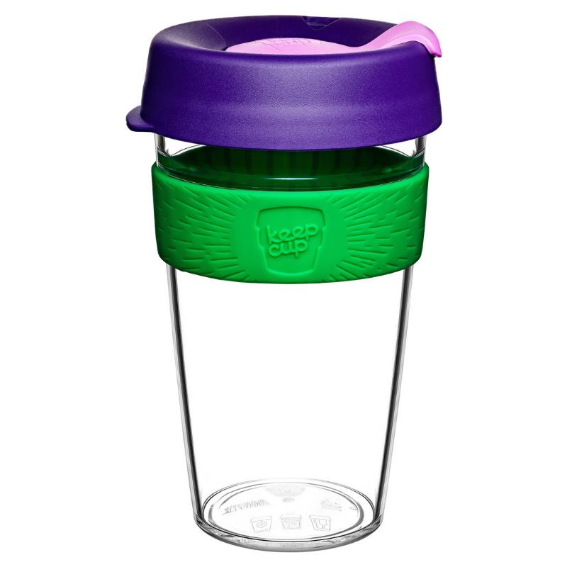 澳洲KeepCup Original Clear輕便Tritan咖啡杯 (12 / 16安士) [5色]