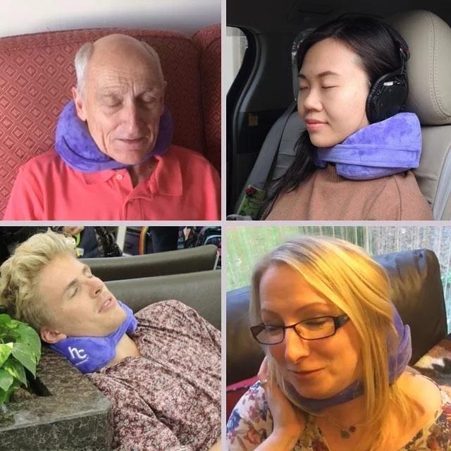 【4色】香港HandyCosy Travel Pillow 旅行頸枕 捲得埋記憶頸枕 現貨