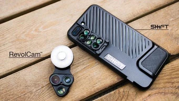 Revolcam 三合一旋轉手機鏡頭 ( 配LED 補光燈、自拍鏡 )