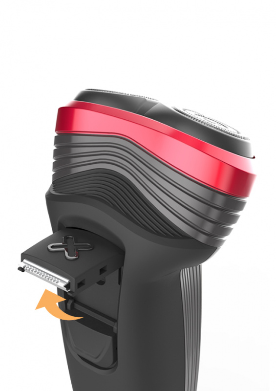 DIXIX Rotary shaver with pop-up trimmer