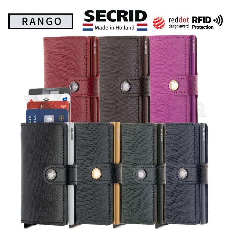 SECRID-Miniwallet-Rango (蜥蝪紋) 真皮防盜銀包
