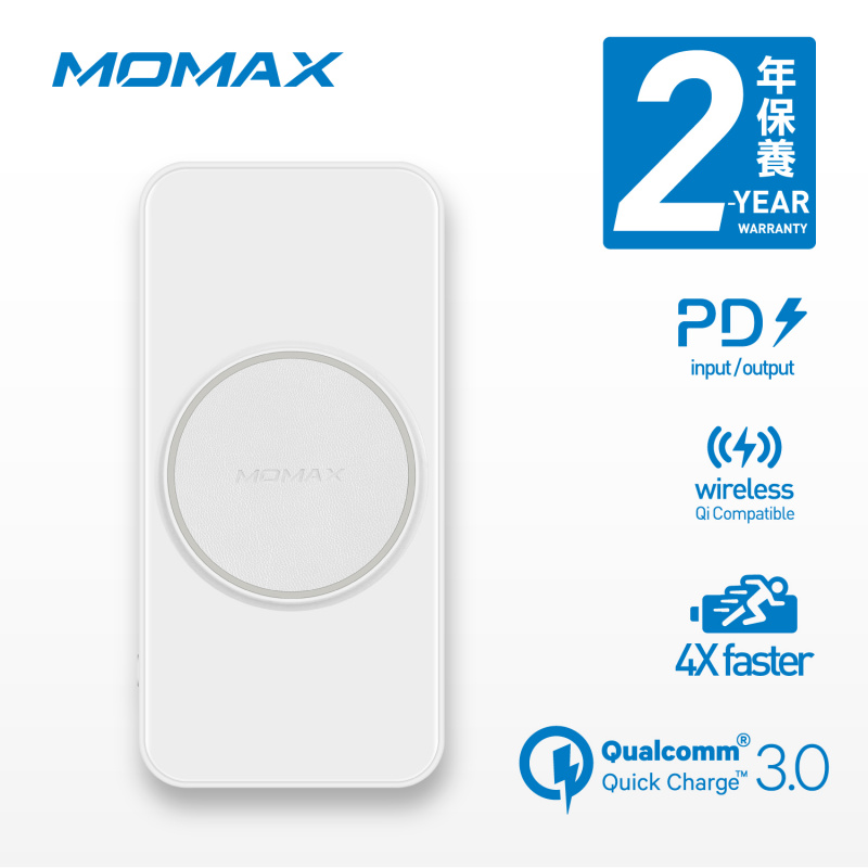 MOMAX Q.Power 3 10000mAh 三合一無線充電流動電源 IP83 [2色]