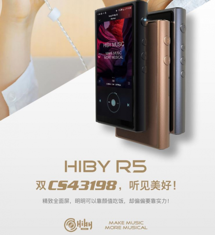 HiBy R5 無損輸出 Android Audio Player (3.5mm/4.4mm)