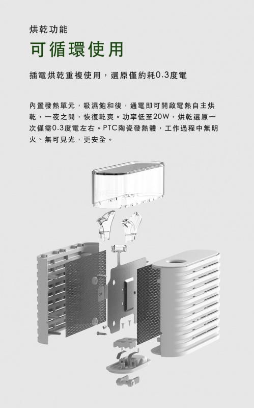 可循環再用的吸濕大笨象 PLANT DEHUMIDIFIER (行貨 港版插頭)