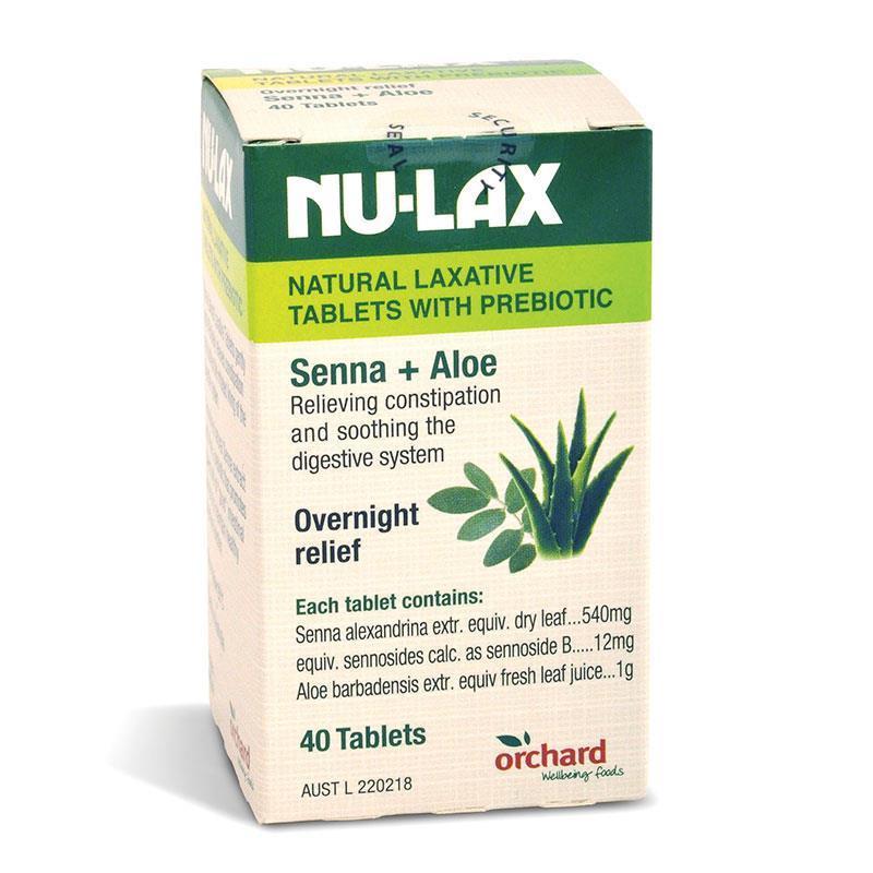 澳洲NU-LAX樂康片 改善便秘果蔬潤腸片 [40粒]