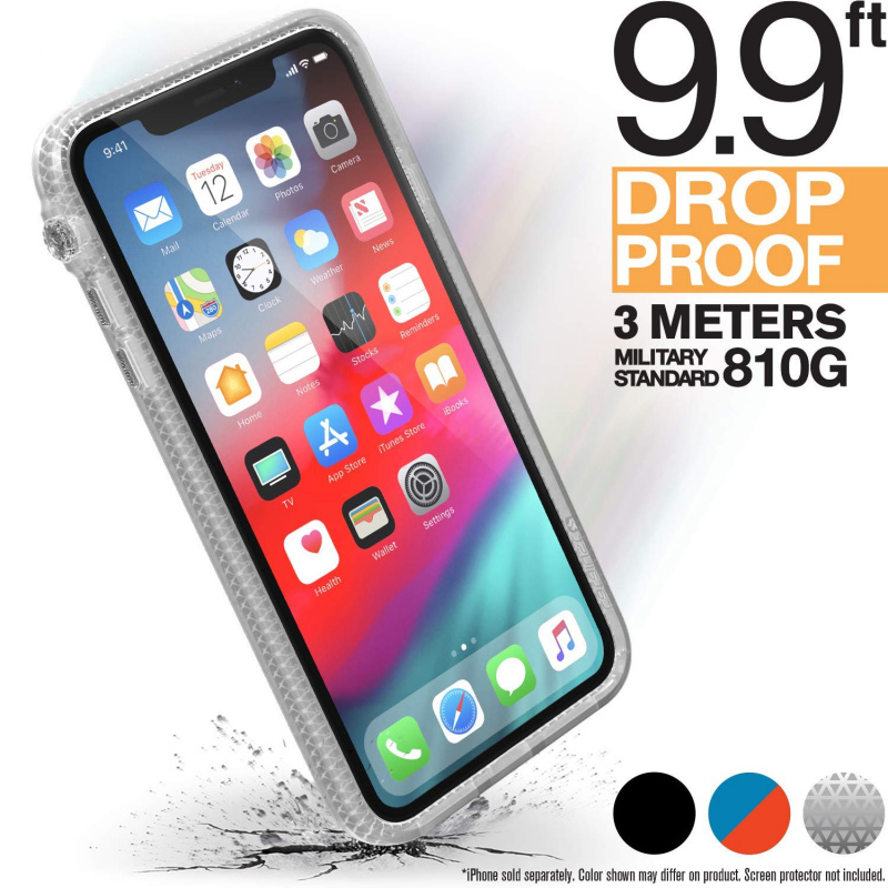 Catalyst Impact Protection Case for iPhone Xs Max 6.5''-Stealth Black/Blueridge Sunset/ Clear