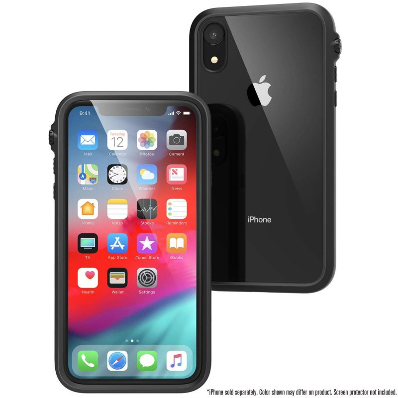 Catalyst Impact Protection Case for iPhone XR 6.1-Stealth Black/Blueridge Sunset/Clear