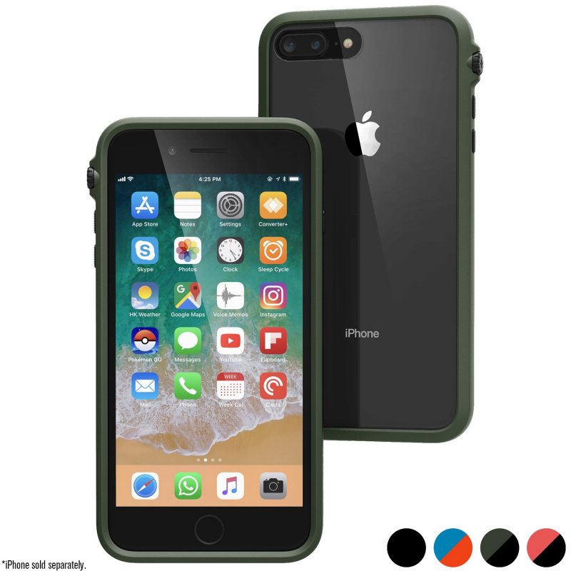 Catalyst Impact Protection Case for iPhone 8 Plus-Stealth Black/Blueridge Sunset/ Army Green/Coral