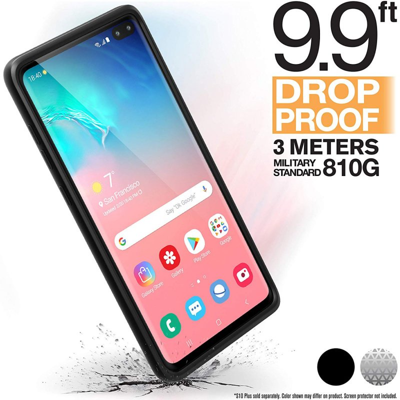 Catalyst Impact Protection Case for Samsung Galaxy S10+ - Stealth Black/Clear