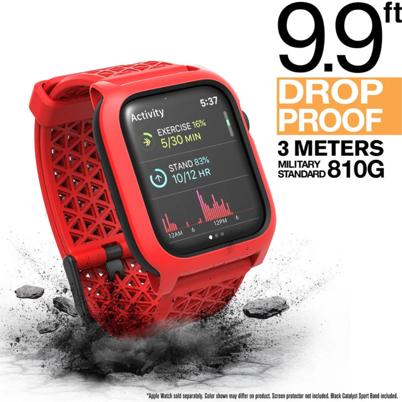 Catalyst Impact Protection Case for 40mm/44mm Apple Watch Series 4 - Stealth Black/Red