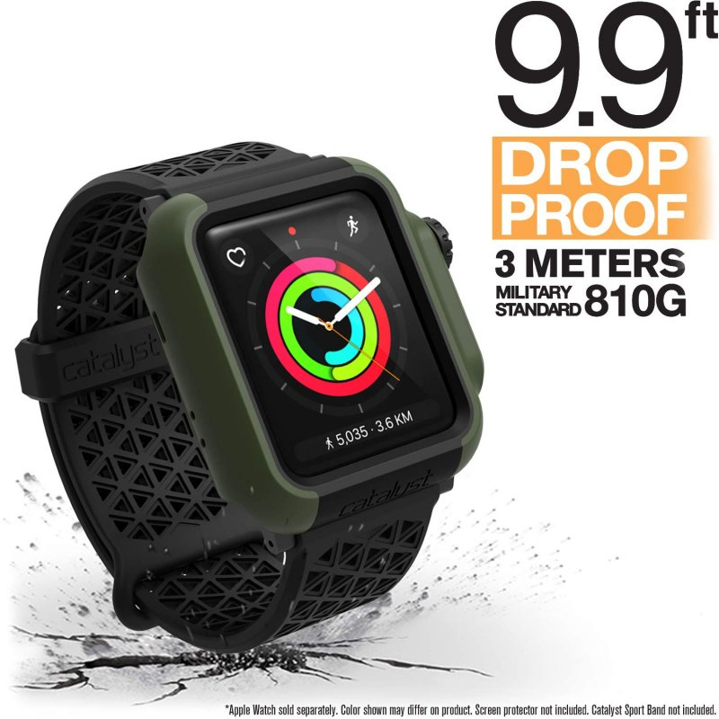 Catalyst Impact Protection Case for 38mm/42mm Apple Watch Series 2/3-Black & Space Gray/Blueridge Sunset/Army Gree/Coraln/