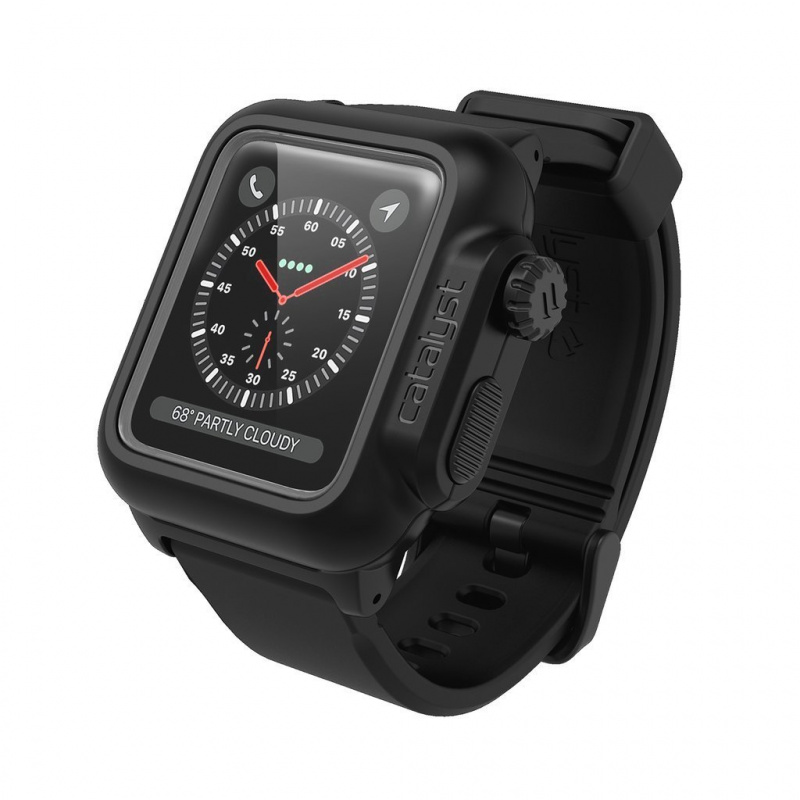 Catalyst Waterproof Case with 42mm sport band/42mm/38mm Apple Watch Series 3 - Stealth Black