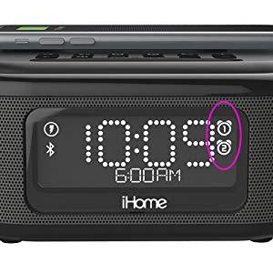 【香港行貨】iHome IBTW23 [BLACK] 藍牙立體聲雙鬧鐘,帶喇叭電話無線充電和 1 X USB 充電端口收音機鬧鐘