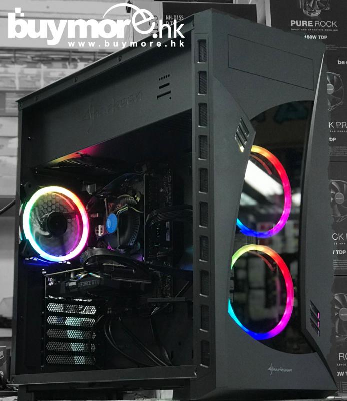 未來科技 Intel Core i5-9400F / ASUS PRIME H310M-E / Kingston DDR-4 2666MHz 8GB / APACER AS340 240GB / ZOTAC GTX1660 6GB / Sharkoon Night Shark / MWE 550w