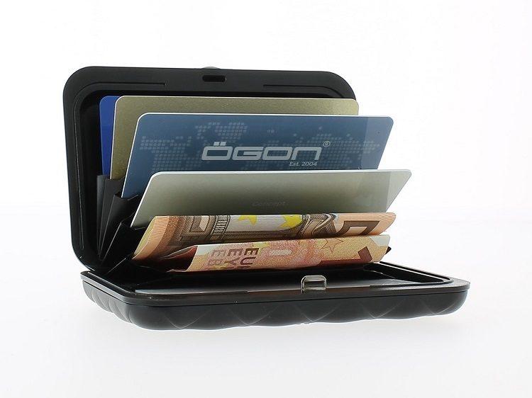 法國OGON QUILTED BUTTON WALLET菱形壓釦防盜RFID錢包