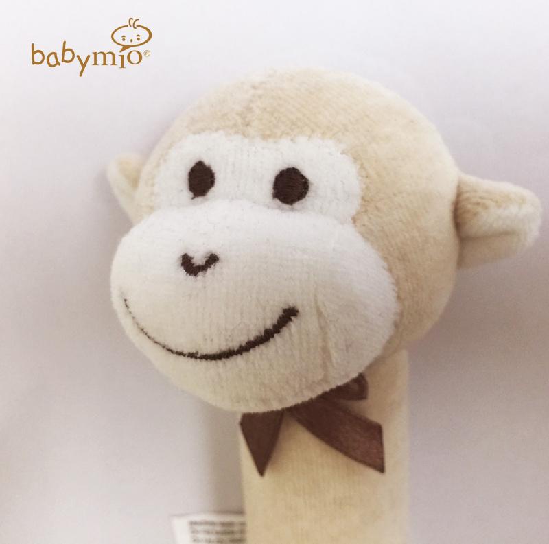 (Babymio) 100%有機棉安撫手握搖鈴 (小猴)