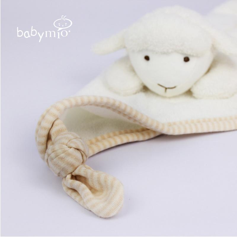 (Babymio) 100% 有機棉嬰兒羊羊安撫巾