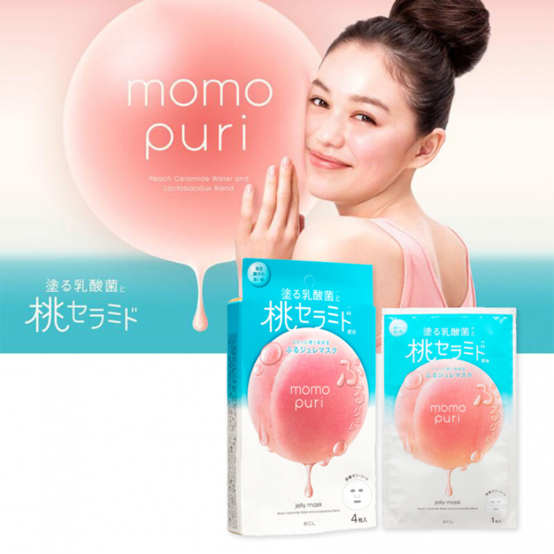 BCL - MomoPuri 蜜桃乳酸菌 高保濕果凍面膜 4枚入