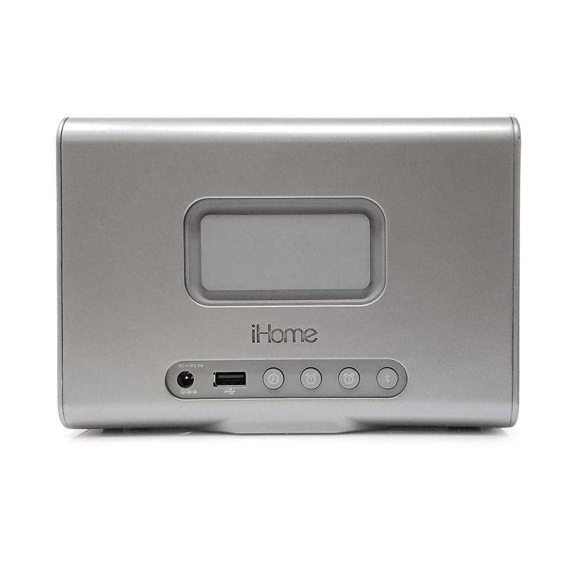 【香港行貨】iHome iBTW39 藍牙雙鬧鐘,無線充電,揚聲器和 USB 充電端口