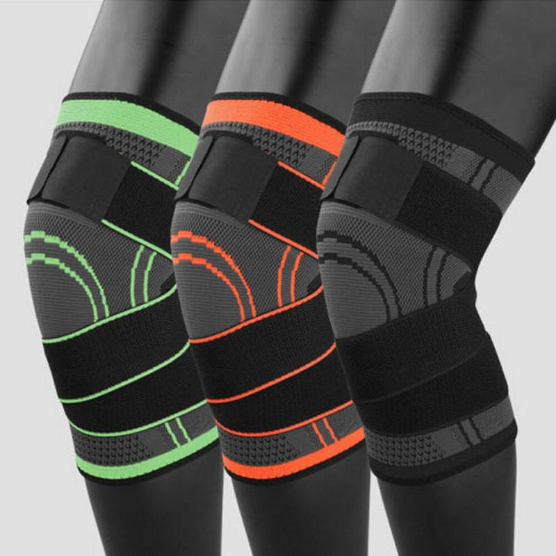專業跑步繃帶式加壓針織護膝套 [一對]