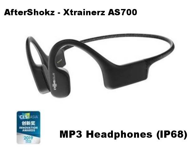 AfterShokz - Xtrainerz AS700 Waterproof 骨傳導 MP3 Headphones (IP68) [BLACK]