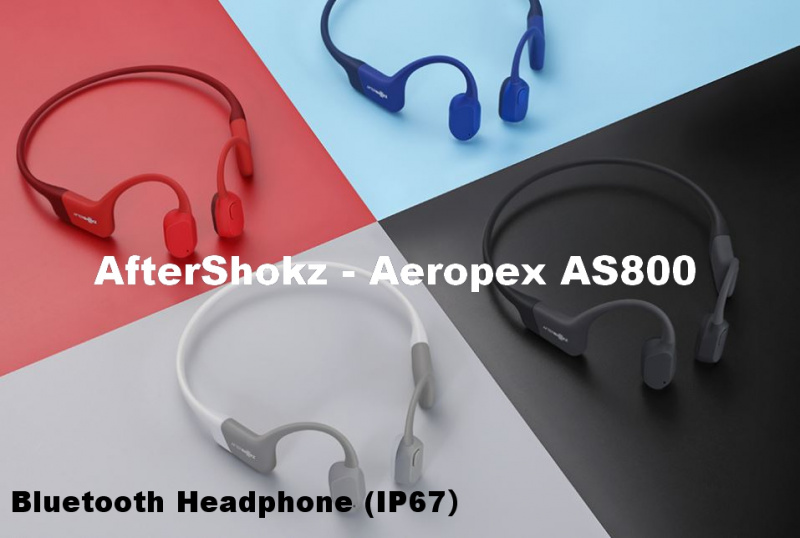 AfterShokz - Aeropex AS800 Bluetooth Bone Conduction Headphones (IP67) 【4色】