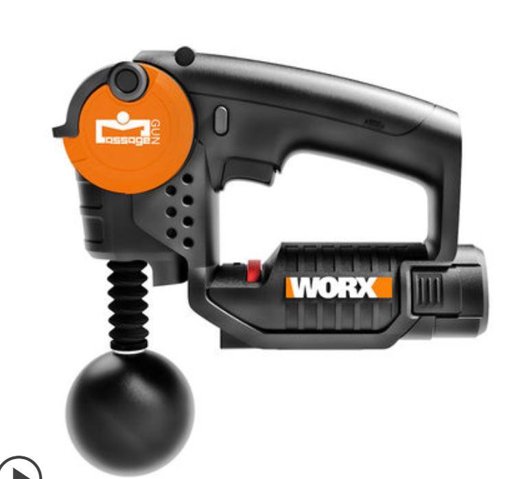 【香港行貨】威克士 WORX 筋膜槍 WX541 高頻健身放鬆器按摩震動放鬆槍肌肉按摩器